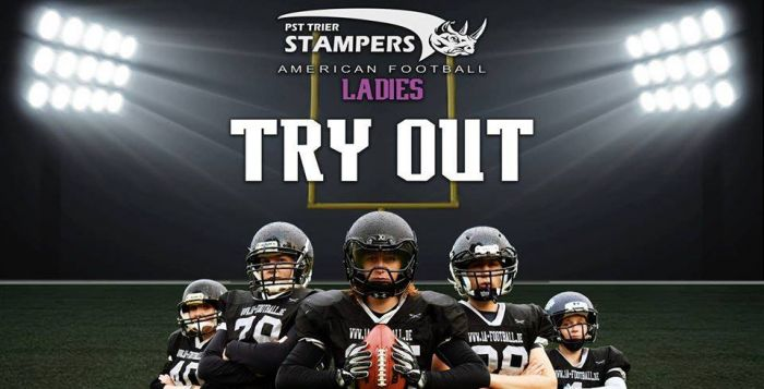 WE WANT YOU! Try-out der Ladies