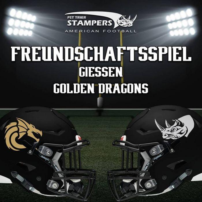 Freundschaftsspiel gegen Giessen Golden Dragons !