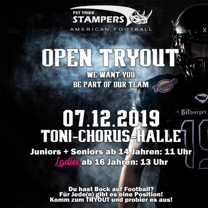 Tryout bei den PST Trier Stampers